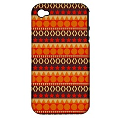 Abstract Lines Seamless Pattern Apple Iphone 4/4s Hardshell Case (pc+silicone)
