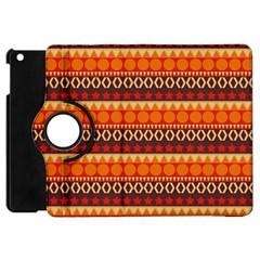 Abstract Lines Seamless Pattern Apple iPad Mini Flip 360 Case