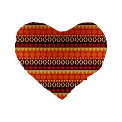 Abstract Lines Seamless Pattern Standard 16  Premium Heart Shape Cushions