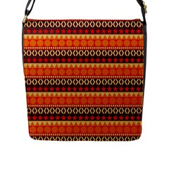 Abstract Lines Seamless Pattern Flap Messenger Bag (L)
