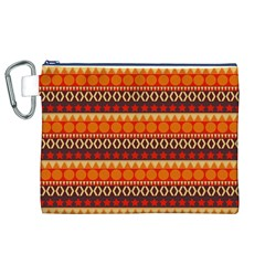 Abstract Lines Seamless Pattern Canvas Cosmetic Bag (XL)