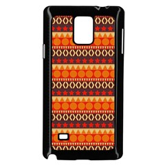 Abstract Lines Seamless Pattern Samsung Galaxy Note 4 Case (Black)
