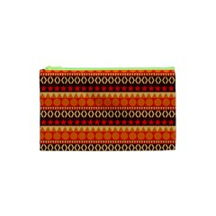Abstract Lines Seamless Pattern Cosmetic Bag (xs)
