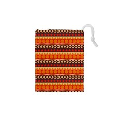 Abstract Lines Seamless Pattern Drawstring Pouches (xs)