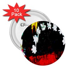 Grunge Abstract In Dark 2 25  Buttons (10 Pack)