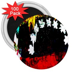 Grunge Abstract In Dark 3  Magnets (100 Pack)