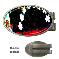 Grunge Abstract In Dark Money Clips (oval)