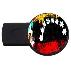 Grunge Abstract In Dark USB Flash Drive Round (1 GB)
