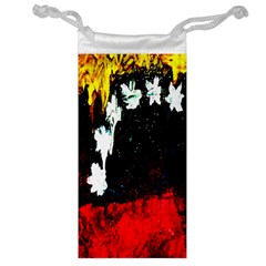 Grunge Abstract In Dark Jewelry Bag
