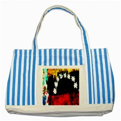 Grunge Abstract In Dark Striped Blue Tote Bag