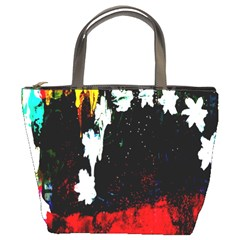 Grunge Abstract In Dark Bucket Bags