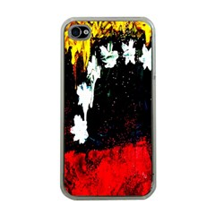 Grunge Abstract In Dark Apple iPhone 4 Case (Clear)