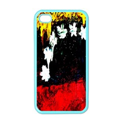 Grunge Abstract In Dark Apple iPhone 4 Case (Color)