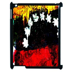 Grunge Abstract In Dark Apple iPad 2 Case (Black)