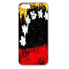 Grunge Abstract In Dark Apple Seamless iPhone 5 Case (Clear)