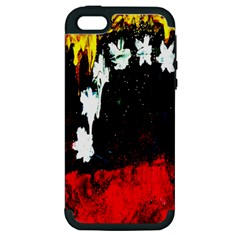 Grunge Abstract In Dark Apple iPhone 5 Hardshell Case (PC+Silicone)