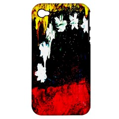 Grunge Abstract In Dark Apple iPhone 4/4S Hardshell Case (PC+Silicone)