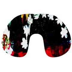 Grunge Abstract In Dark Travel Neck Pillows
