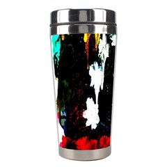 Grunge Abstract In Dark Stainless Steel Travel Tumblers