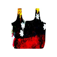 Grunge Abstract In Dark Full Print Recycle Bags (S)
