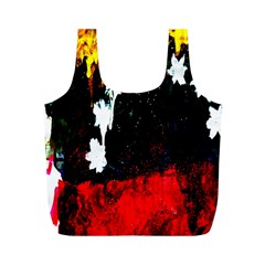 Grunge Abstract In Dark Full Print Recycle Bags (M)