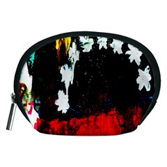 Grunge Abstract In Dark Accessory Pouches (medium)