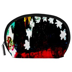 Grunge Abstract In Dark Accessory Pouches (Large)