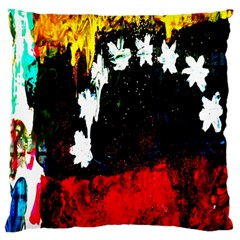 Grunge Abstract In Dark Large Flano Cushion Case (Two Sides)