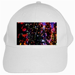 Lit Christmas Trees Prelit Creating A Colorful Pattern White Cap