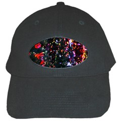 Lit Christmas Trees Prelit Creating A Colorful Pattern Black Cap
