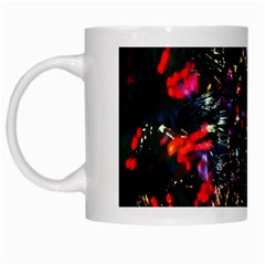 Lit Christmas Trees Prelit Creating A Colorful Pattern White Mugs
