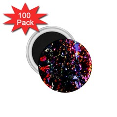 Lit Christmas Trees Prelit Creating A Colorful Pattern 1.75  Magnets (100 pack)