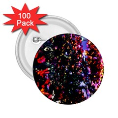 Lit Christmas Trees Prelit Creating A Colorful Pattern 2.25  Buttons (100 pack)