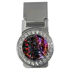 Lit Christmas Trees Prelit Creating A Colorful Pattern Money Clips (cz)