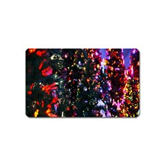 Lit Christmas Trees Prelit Creating A Colorful Pattern Magnet (Name Card)