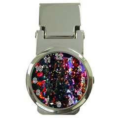 Lit Christmas Trees Prelit Creating A Colorful Pattern Money Clip Watches