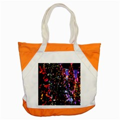 Lit Christmas Trees Prelit Creating A Colorful Pattern Accent Tote Bag