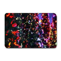 Lit Christmas Trees Prelit Creating A Colorful Pattern Small Doormat