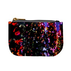 Lit Christmas Trees Prelit Creating A Colorful Pattern Mini Coin Purses