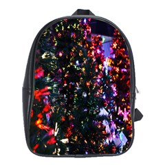 Lit Christmas Trees Prelit Creating A Colorful Pattern School Bags(Large)