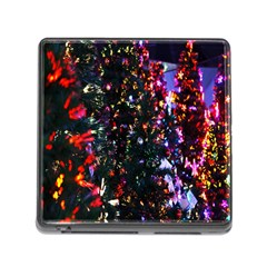 Lit Christmas Trees Prelit Creating A Colorful Pattern Memory Card Reader (square)