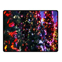 Lit Christmas Trees Prelit Creating A Colorful Pattern Fleece Blanket (small)
