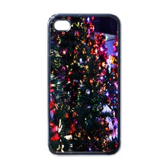 Lit Christmas Trees Prelit Creating A Colorful Pattern Apple iPhone 4 Case (Black)