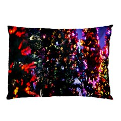 Lit Christmas Trees Prelit Creating A Colorful Pattern Pillow Case (two Sides)