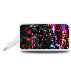 Lit Christmas Trees Prelit Creating A Colorful Pattern Portable Speaker (White)