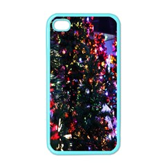 Lit Christmas Trees Prelit Creating A Colorful Pattern Apple Iphone 4 Case (color)