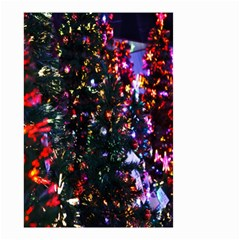 Lit Christmas Trees Prelit Creating A Colorful Pattern Small Garden Flag (Two Sides)
