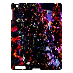 Lit Christmas Trees Prelit Creating A Colorful Pattern Apple iPad 3/4 Hardshell Case