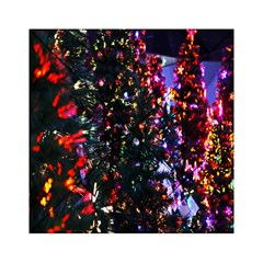 Lit Christmas Trees Prelit Creating A Colorful Pattern Acrylic Tangram Puzzle (6  x 6 )