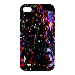 Lit Christmas Trees Prelit Creating A Colorful Pattern Apple Iphone 4/4s Premium Hardshell Case